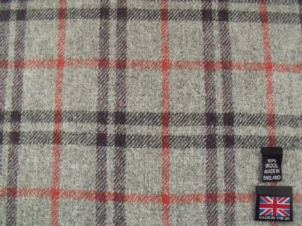 Shetland Tweed Plaid Fabric AZ30